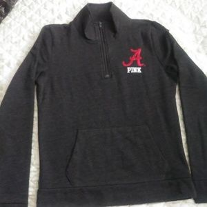 RARE PINK VS ALABAMA quarter zip sweatshirt
